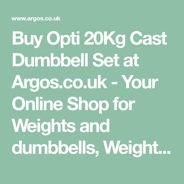 Buy Opti 20Kg Cast Dumbbell Set at Argos.co.uk - Your Online Shop for Weights and dumbbells, Weights, multi-gyms and strength training, Fitness equipment, Sports and leisure.