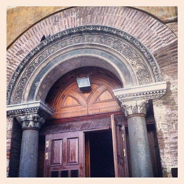 The beautifully ornate gate of Agia Sofia Church. (Walking Thessaloniki - Route 03, St Sofia)