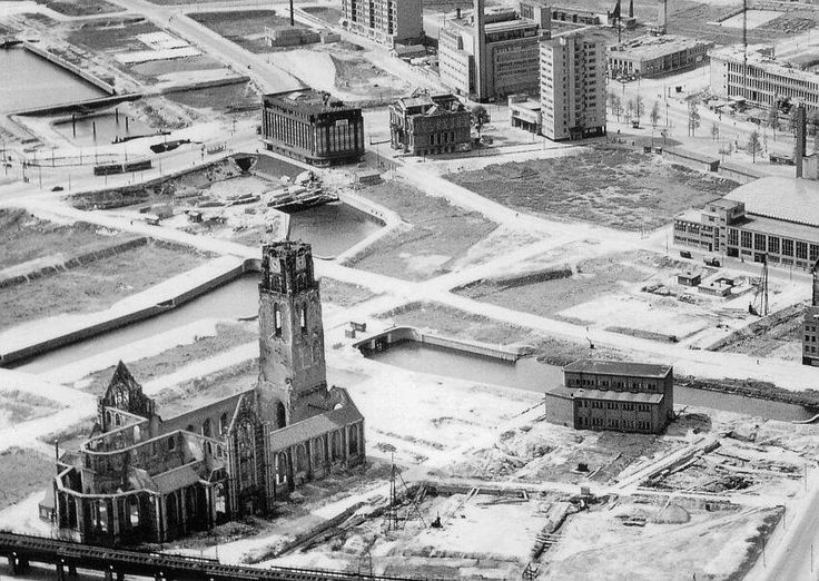 Rotterdam center after WW2 in 1945.