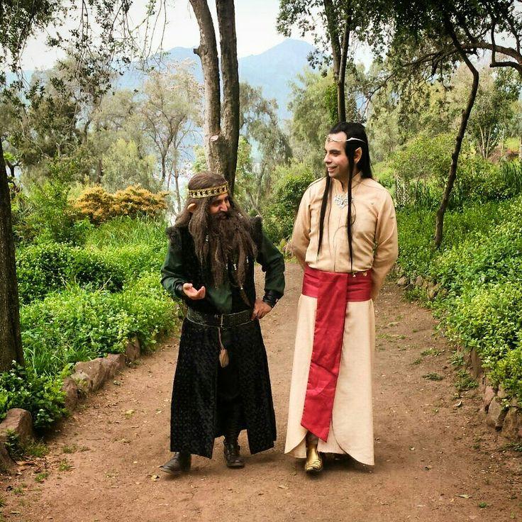 Elfos y enanos elven dwarf