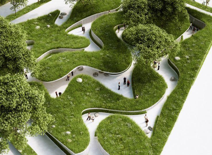Penda Designs River-Inspired Landscape Pavilion for China's Garden Expo, © penda architecture & design
