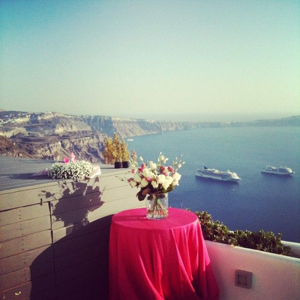 Wedding ceremony at Chromata hotel Santorini