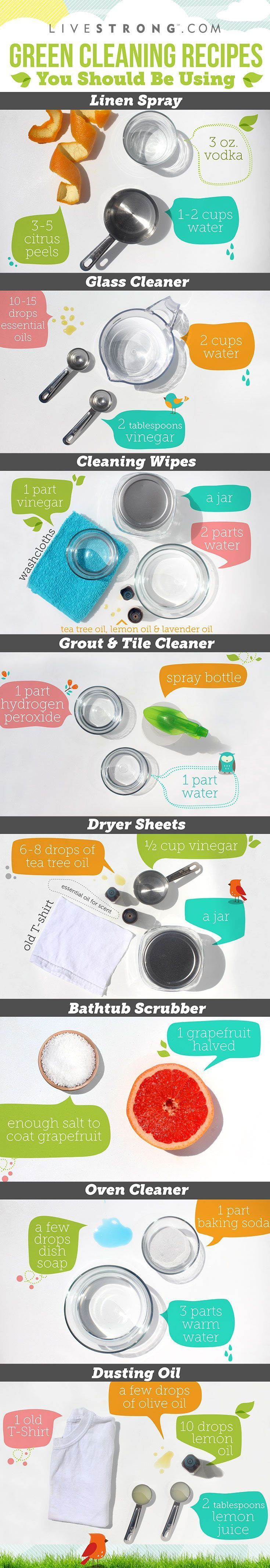 8 Guilt-Free Cleaning Products to Make at Home http://www.livestrong.com/slideshow/1011358-8-guiltfree-cleaning-products-make-home/