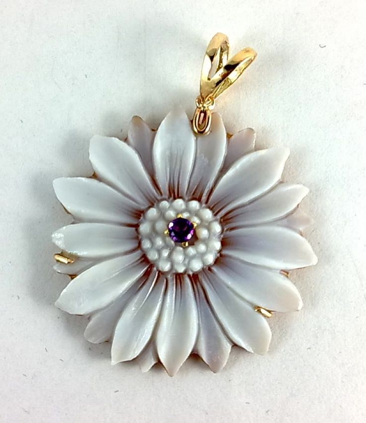 pendant with handcarved cameo