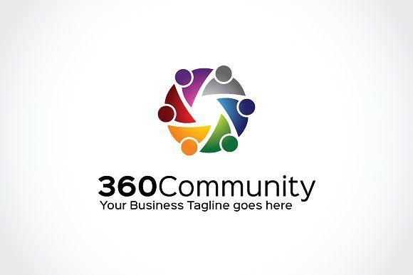 360 Community Logo Template by Mudassir101 on @creativemarket