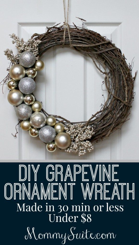 This gorgeous wreath can be customized in so many ways to fit your home for the holidays (and beyond)! Super quick, easy, and inexpensive!