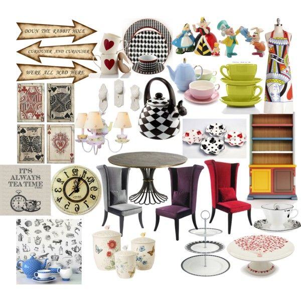 quot alice in wonderland kitchen quot  by molly pop on polyvore