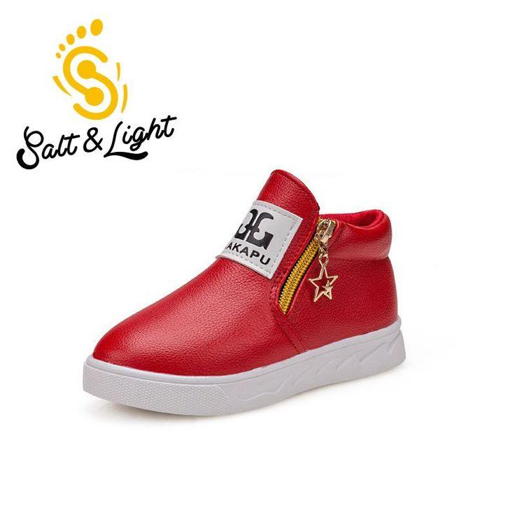 JUSTSL Children shoes boys girls hot fashion Martin australia boots single low short botas kids baby nina boys autumn shoes #Affiliate