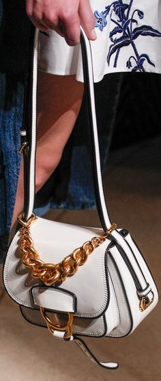 Fall 2016 Ready-to-Wear Miu Miu - #handbag #white #designerhandbag