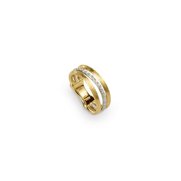 Marco Bicego 18K yellow gold ring. Golden links that are as beautiful as they are easy to wear, this Jaipur Link Diamond Ring is hand engraved by Italian artisans. Total diamond weight: 0.12 ct. https://www.facebook.com/DiamondDreamFineJewelers  https://twitter.com/Diamond_Dream_  https://plus.google.com/+DiamondDreamFineJewelersBernardsville  https://www.instagram.com/diamonddreamjewelers