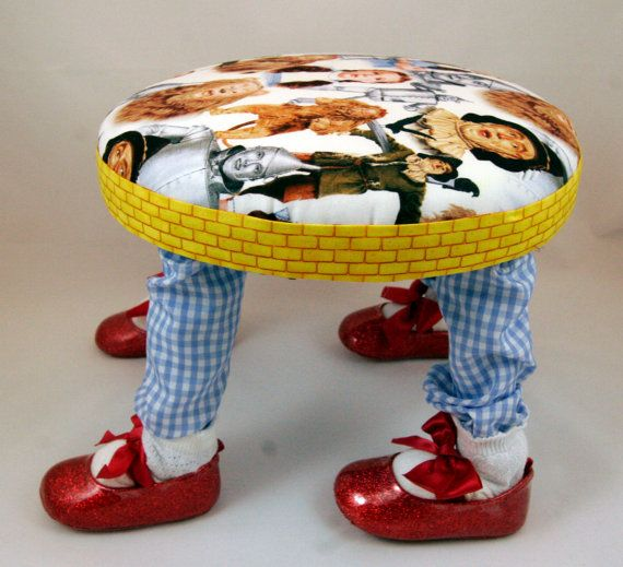 Small Footstool Child's Chair Wizard of Oz by ImaginationFootstool