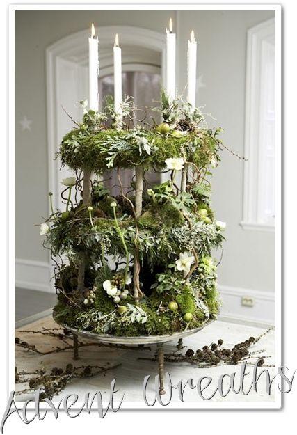 adventskrans, adventskransar, advent wreath