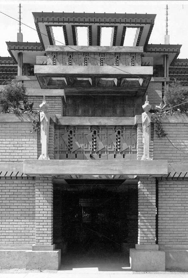 "The Midway Gardens, Frank Lloyd Wright, architect  |  Chicago, Illinois  |  The Midway Gardens was a European style beer garden and concert venue built in the Hyde Park neighborhood on the South Side of Chicago in 1914,  demolished 1929.  The sculptors Richard Bock and Alfonso Iannelli collaborated with Wright on the famous ""sprite"" sculptures mounted atop the Garden's walls."