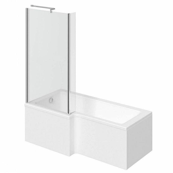 Boston Shower Bath 1500 x 850 LH inc. Screen Towel Rail VictoriaPlum.com