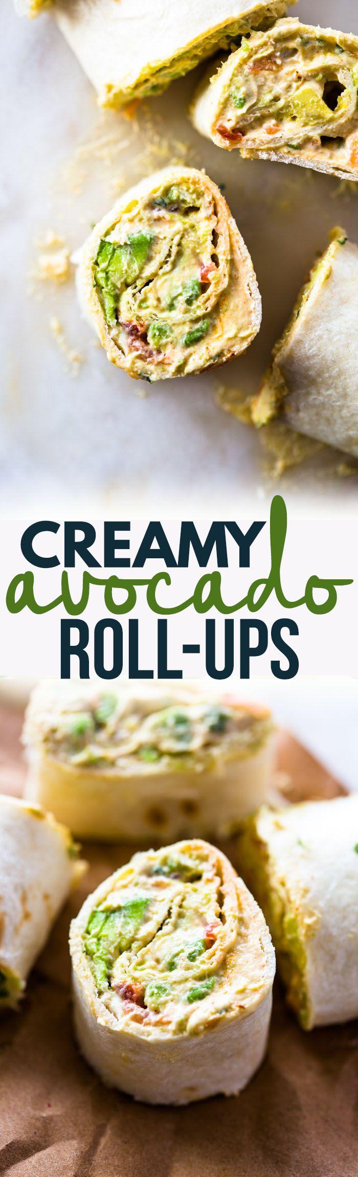 Creamy Avocado & Tomato  Roll-Ups