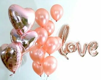 Some of my favourite Rose Gold balloons. For more helium filled balloons visit www.balloonbiz.co.nz