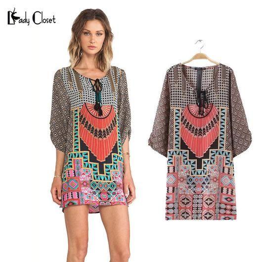 Ethnic Totem Dress