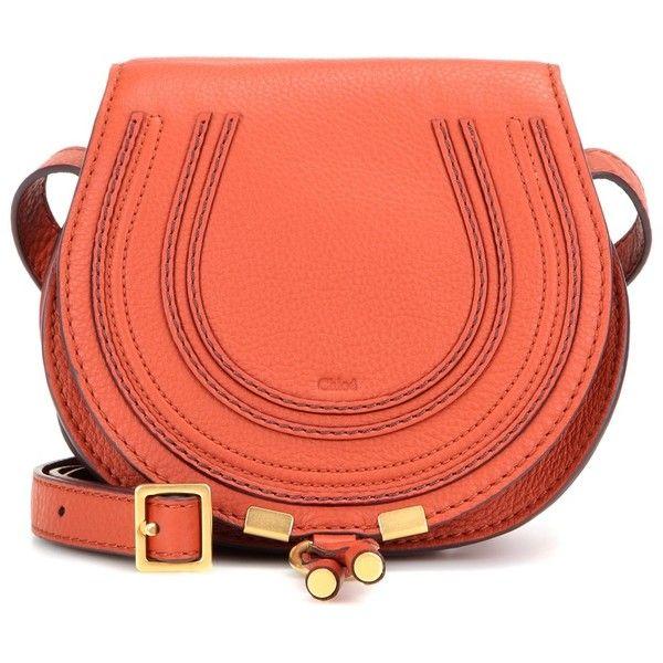 Chloé Marcie Small Leather Shoulder Bag (€705) ❤ liked on Polyvore featuring bags, handbags, shoulder bags, red, red leather handbag, leather purse, genuine leather shoulder bag, chloe handbags и leather shoulder bag