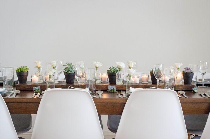 Idée de décoration de table pour un mariage chic moderne et d'inspiration scandinave - La Fiancée du Panda blog Mariage et Lifestyle