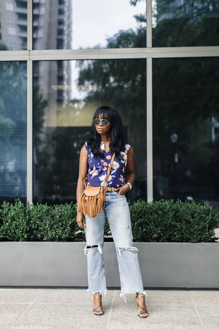 The Stitch Fix Top that you need this Spring + MOUSSY Odessa Jeans + Chloe Hudson Bag | MILLENNIELLE