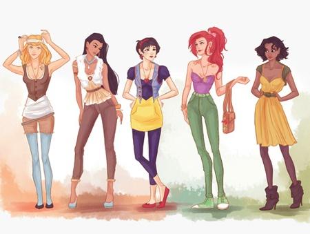 Hipster Disney Princesses... I think I'd be Snow White.