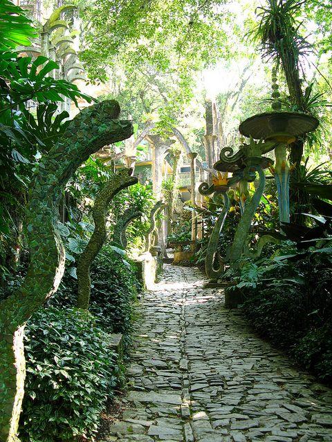 La Pozas, a surrealist garden in Xilitla, Mexico, designed and created by Edward James, British poet.