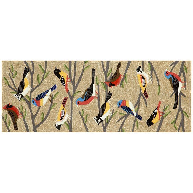 Trans Ocean Liora Manne Frontporch Birds Natural Indoor - Outdoor Rug