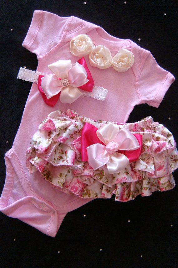 NEWBORN baby girl take me home outfit onesie by BeBeBlingBoutique