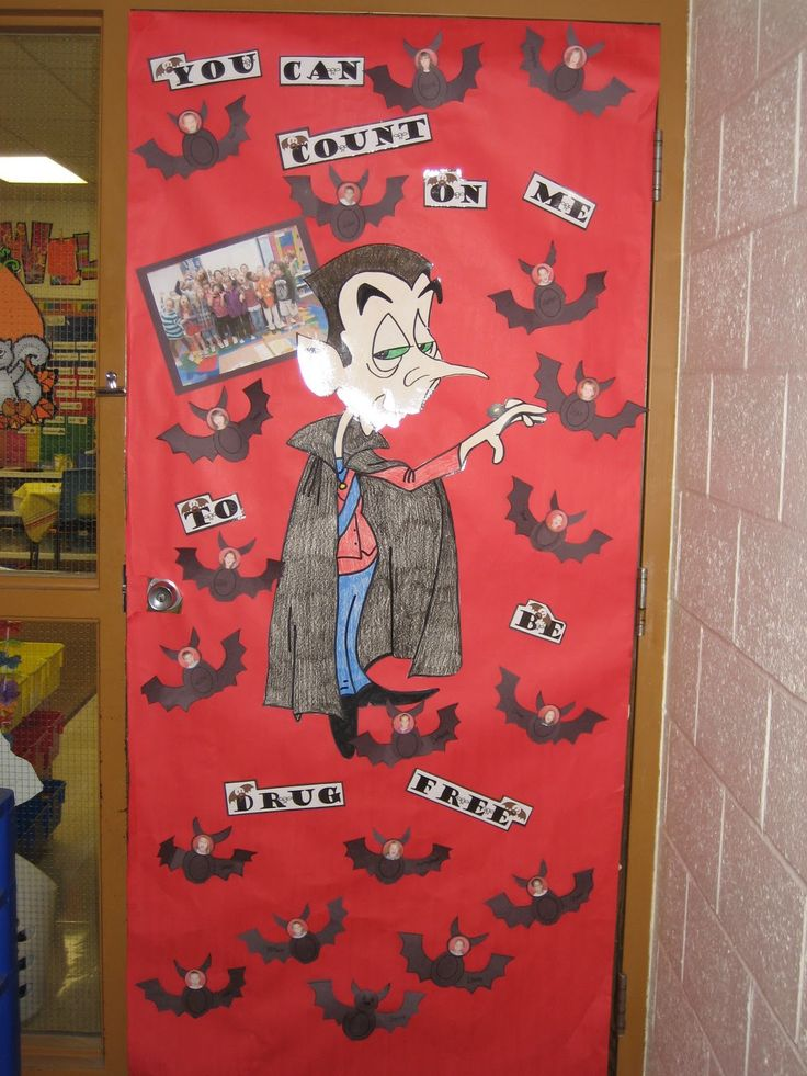 perfect idea for drug free door decoration to go with studying bats - Free Decoration Ideas
