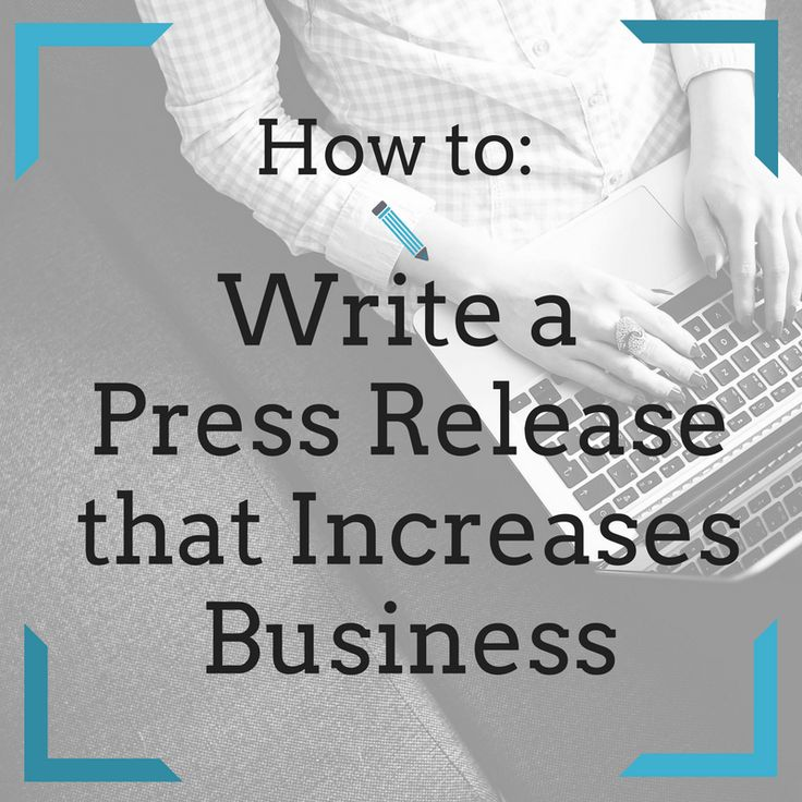 reasons to write a press release