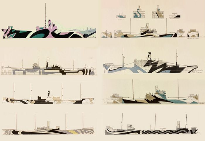 Dazzle Ship Painting Colours -- Dazzle Camo CUBISM AT WAR