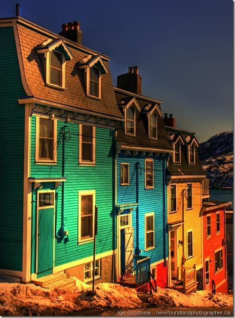 Jellybean Row!  Click to see more beautiful pictures of these colorful homes! :)