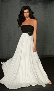 Sassy Simply Ruched Pleated Empire Chiffon Violet Strapless Prom Dress $132.00
