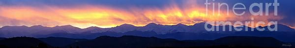 Sangre De Cristo Sunset Panorama by Barbara Chichester