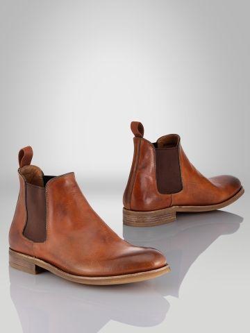 Godstl Leather Boot - Ralph Lauren Boots - Ralph Lauren France