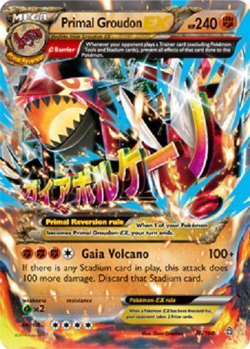 Primal Groudon EX 86/160 ULTRA RARE MEGA - XY Primal Clash PREORDER SHIPS 2/6 #Pokemon