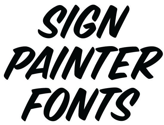 Sign painter fonts from house design lettres pinterest for House lettering script