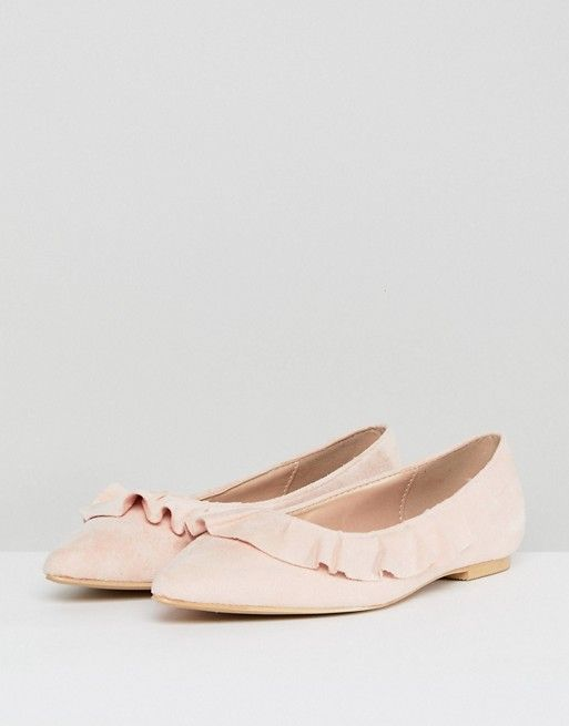 66b7a2b7fecd Glamorous Pointed Flat Shoes in Pink  32.00