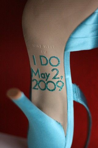 My something blue is going to be my shoes, love the idea of the bottoms here , esp for photos