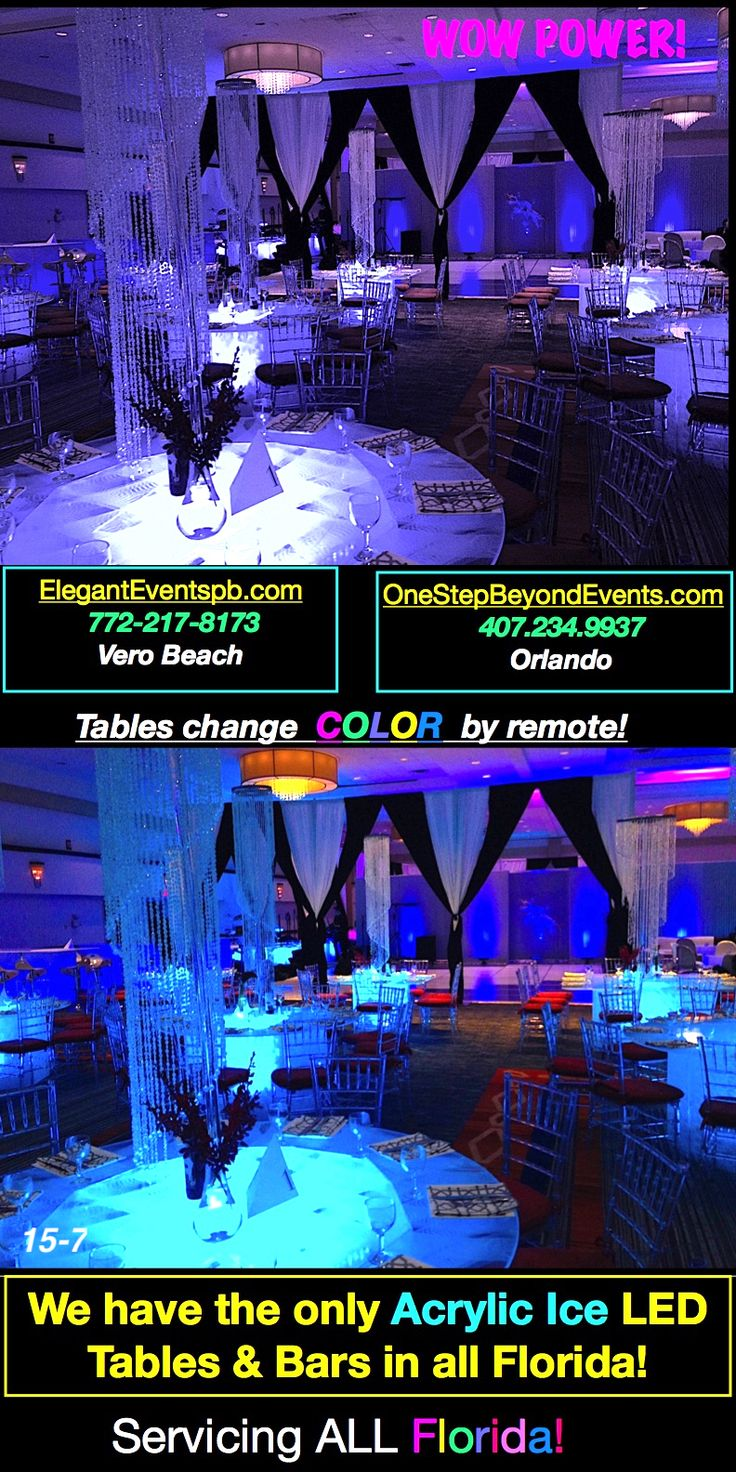 Led tables are affordable. Lowest prices Acrylic Ice LED