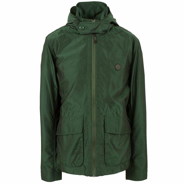 Green Felton Hooded Jacket | Pretty Green | Designer fashion from Liam Gallagher