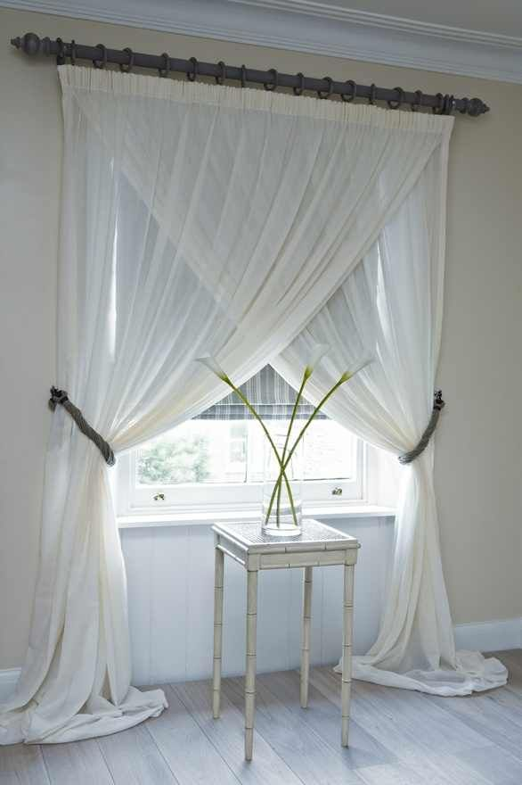 Crossed curtains :) Love this.