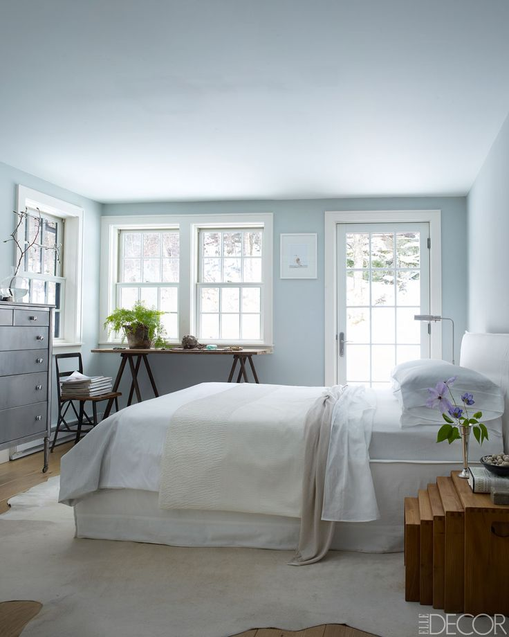 Minus the table by window n bedside table n i'd sleep here...FleaingFrance Brocante Society Calm sleeping space.  #bedroom