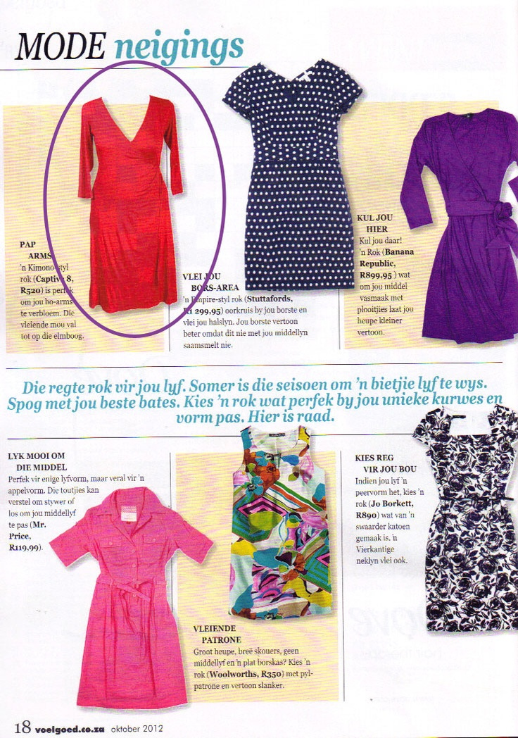 Captive8′s Emma Dress was featured in Finesse magazine. Our versatile wrap dress has a flattering tie under-bust and mid-knee length. Dress it up for a night on the town, or down for work or day-wear.