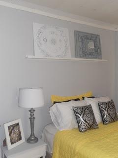 Wall color perfect grey, valspar silver leaf