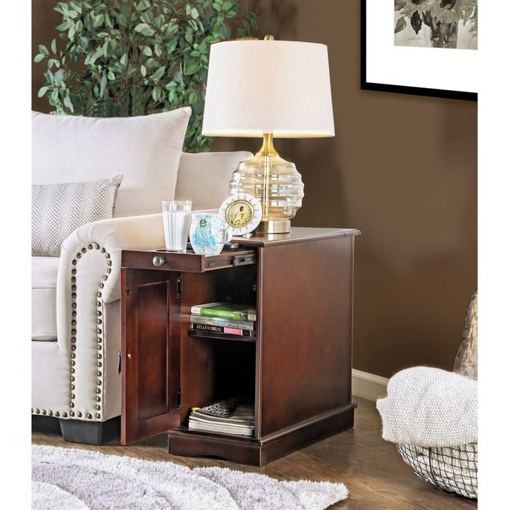 Furniture of America Terra Multi-storage Side Table with Power Strip   Overstock.com Shopping - The Best Deals on Coffee, Sofa & End Tables
