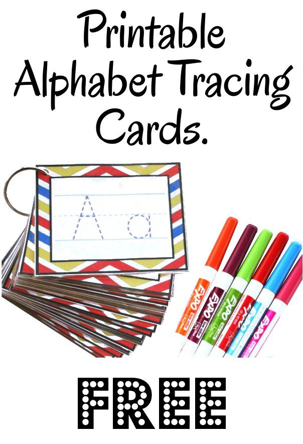 See Jamie Teach Homeschool: Alphabet Tracing Cards -Free Printable-