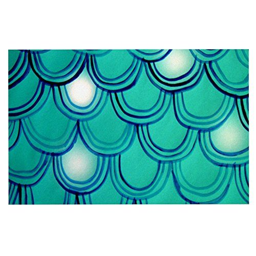 Kess InHouse Theresa Giolzetti Mermaid Tail Teal Blue Decorative Doormat 24 by 36Inch -- To view further for this item, visit the image link.