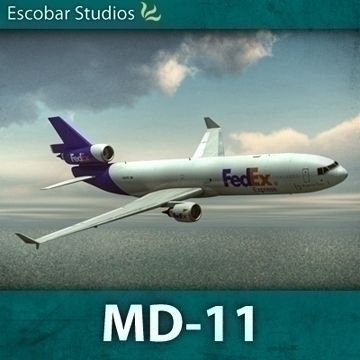 McDonnell Douglas MD-11 3D Model-   IMPORTANT: Read instructions on importing the model into your 3D package.McDonnell Douglas MD-11This is a highly accurate model of the MD-11 aircraft.The aircraft includes a highly detailed landing gear, wing flaps, spoilers, rudders, ailerons, turbine, lights, probes and windshield wipers. Also modeled is the interior cockpit.Previews were rendered using mental ray with Maya and Vue 6.Technical Information:How to uncompress from ZIP files:Compression…
