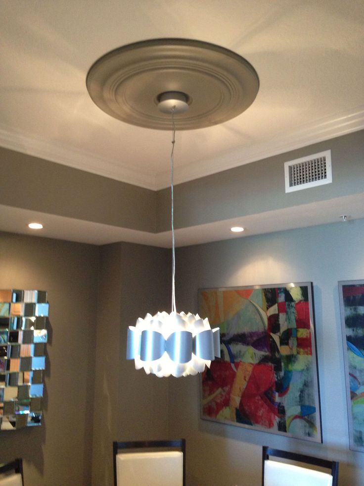 ceiling with ekena orleans pictures millwork fixture light medallions medallion project painted